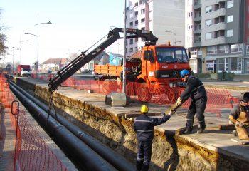 Izgradnja vrelovoda na bul.Cara Lazara i bul.Evrope u Novom Sadu DN 450/300/200